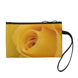 Yellow Rose Flower Coin Purse