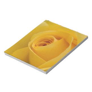 Yellow Rose Flower Notepad