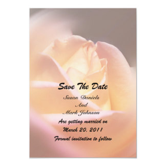 Yellow Rose Flower Wedding Save The Date 5x7 Paper Invitation Card