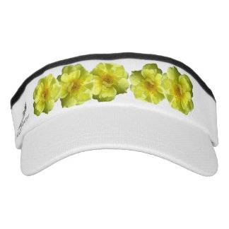 Yellow Rose Flowers Headsweats Visors Visor