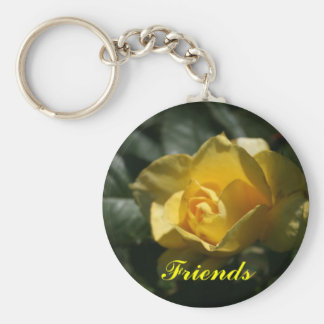 Yellow Rose Friends Key Ring