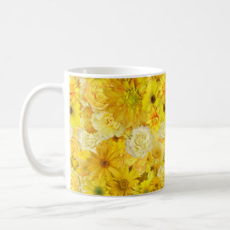 Yellow Rose Friendship Bouquet Gerbera Daisy Coffee Mug