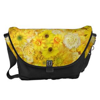 Yellow Rose Friendship Bouquet Gerbera Daisy Courier Bags