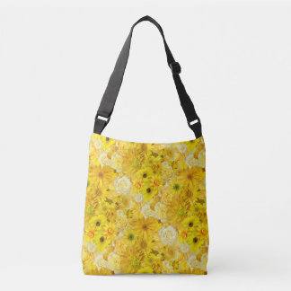 Yellow Rose Friendship Bouquet Gerbera Daisy Crossbody Bag