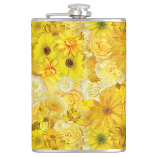 Yellow Rose Friendship Bouquet Gerbera Daisy Hip Flask