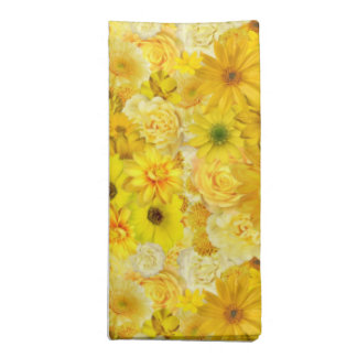 Yellow Rose Friendship Bouquet Gerbera Daisy Napkin