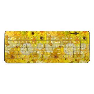 Yellow Rose Friendship Bouquet Gerbera Daisy Wireless Keyboard