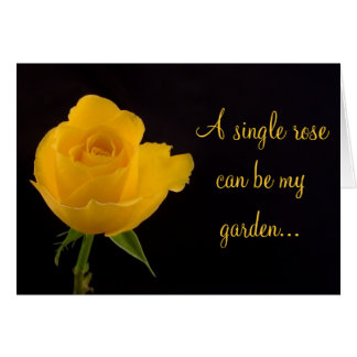 Yellow Rose - Friendship Greeting Card