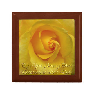 Yellow Rose Gift Box Personalized Flower Boxes