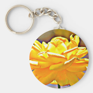 Yellow Rose in Chromatic Basic Key Chain