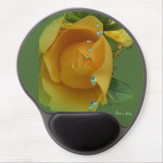 Yellow Rose in the Rain - Gel Mouse Pad