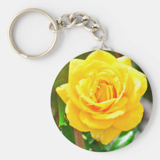 Yellow Rose Key Chain