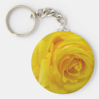 yellow rose key ring