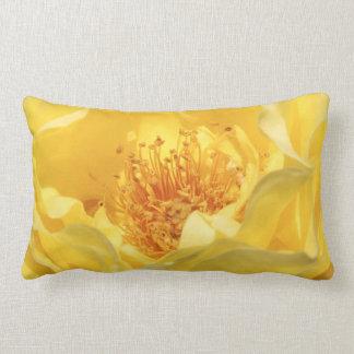 yellow rose lumbar cushion