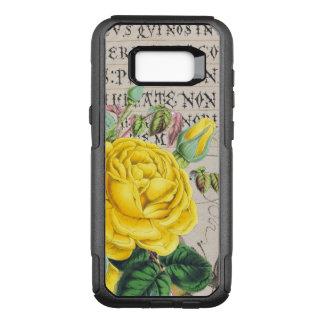 Yellow Rose Manuscript OtterBox Commuter Samsung Galaxy S8+ Case