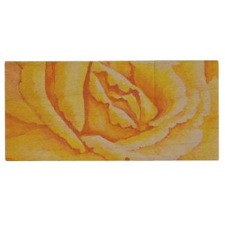 Yellow Rose Wood USB 2.0 Flash Drive