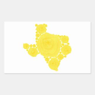 Yellow Rose of Texas Rectangular Sticker