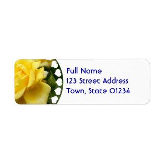 Yellow Rose of Texas Return Address Label