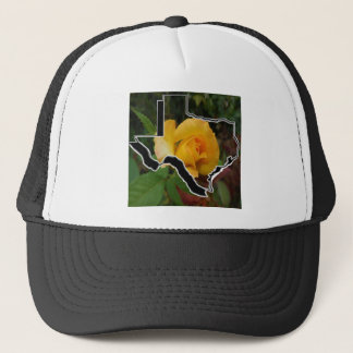 Yellow Rose of Texas with Texas Trucker Hat