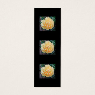 Yellow Rose, on black background. Mini Business Card