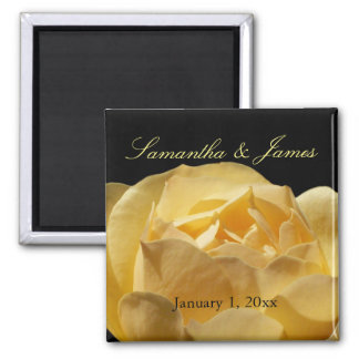 Yellow Rose Personal Wedding Magnet