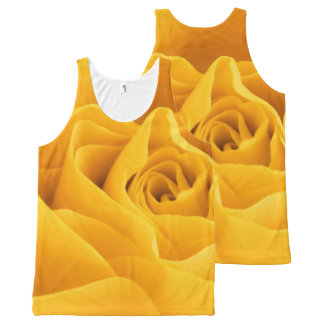 Yellow Rose Petals All-Over Print Singlet