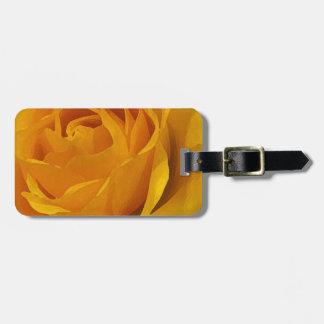 Yellow Rose Petals Luggage Tag
