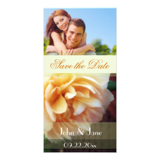"""Yellow Rose/photo  """"Save the Date"""" Customised Photo Card"""