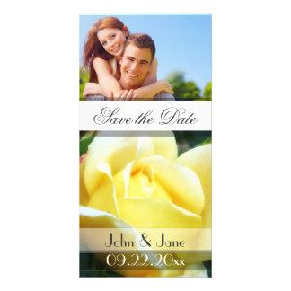 "Yellow Rose  /photo  ""Save the Date"" Custom Photo Card"