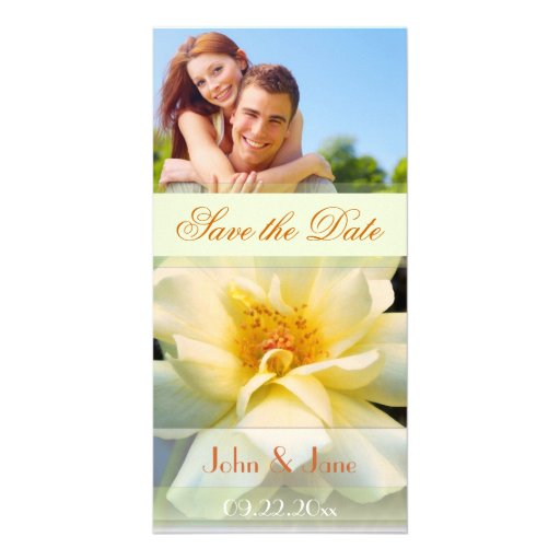 """Yellow Rose/photo  """"Save the Date"""" Photo Card"""