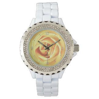 Yellow rose print watch