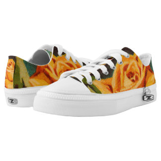 Yellow Rose Printed Shoes