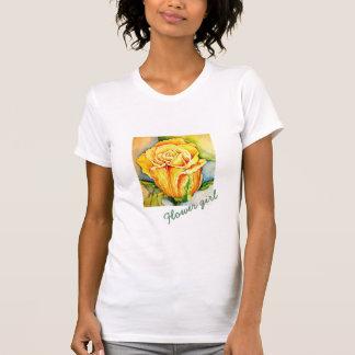 "yellow rose printed t-shirt ""Rose''"