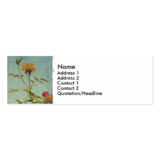 Yellow Rose profile card Business Cards