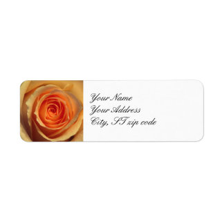 Yellow Rose Return Address Label