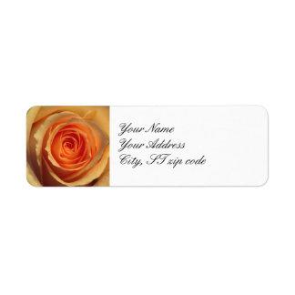 Yellow Rose Return Address Label