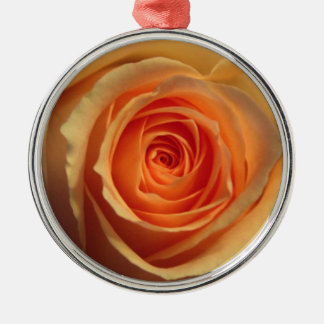 Yellow Rose Round Ornament