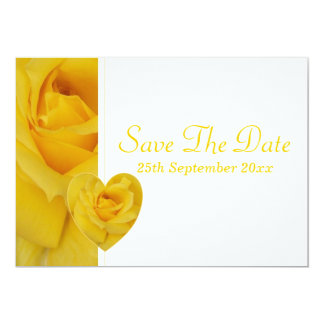 Yellow Rose Save The Date 13 Cm X 18 Cm Invitation Card