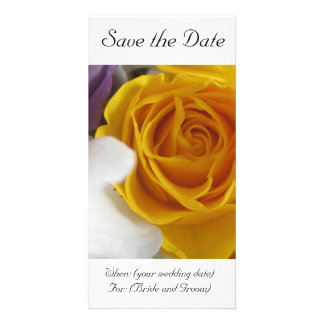 Yellow Rose Save the Date Card Photo Card