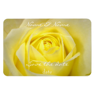 yellow rose save the date magnet