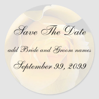 Yellow Rose Save The Date Reminder Stickers
