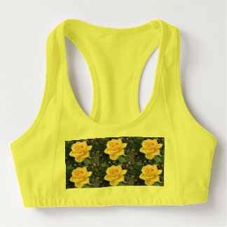 Yellow Rose Sports Bra