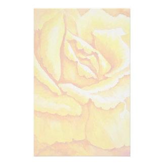 Yellow Rose Stationery Design