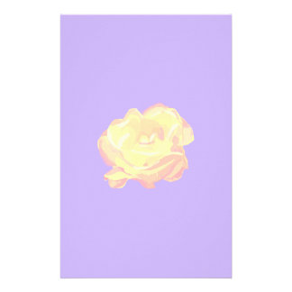 Yellow Rose Stationery Paper