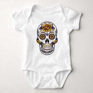 Yellow Rose Sugar Skull Baby Bodysuit