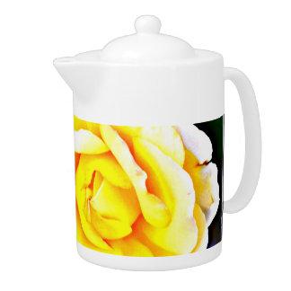 Yellow Rose Tea Pot