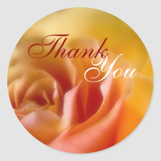 Yellow Rose • Thank You Sticker