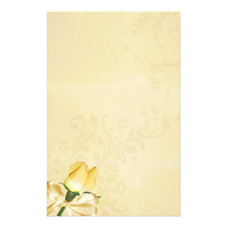 Yellow Rose Vintage Stationery