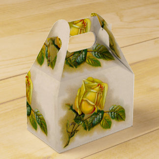 Yellow Rose Vintage Victorian Flower Favour Box