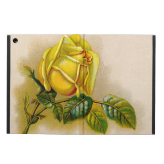Yellow Rose Vintage Victorian Flower iPad Air Cover